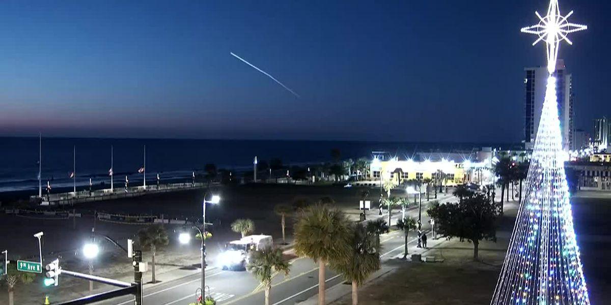 Boeing Starliner launch seen across Grand Strand