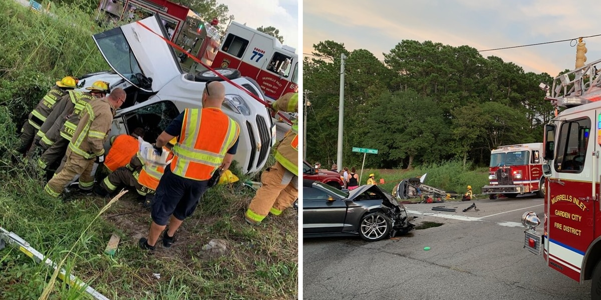 Fire crews rescue 3 trapped in overturned vehicle in Highway 17 Bypass cash