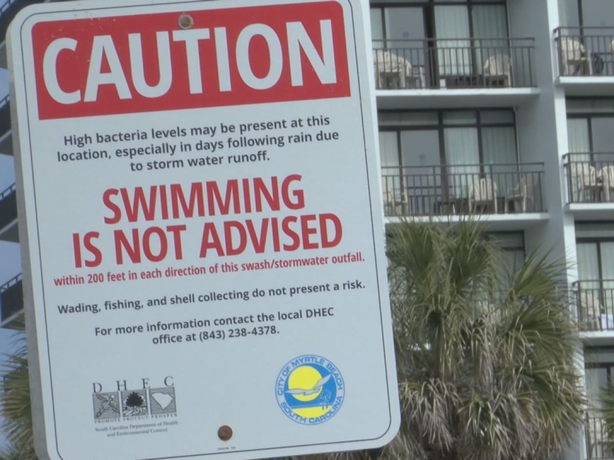 DHEC issues temporary swimming advisory for 15th Ave. South in Myrtle Beach