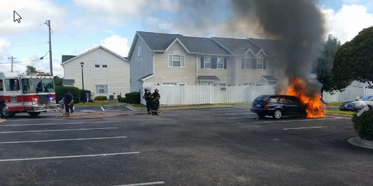 NMB Fire Rescue extinguishes car fire Thursday