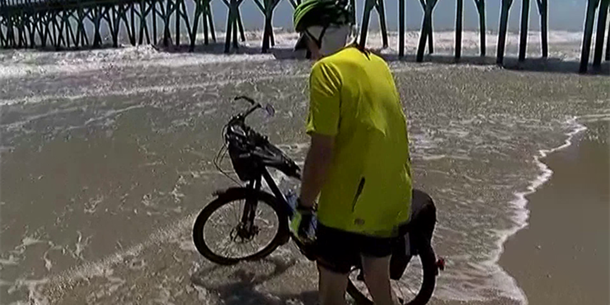 72-year-old man finishes transcontinental bicycle trip in Myrtle Beach