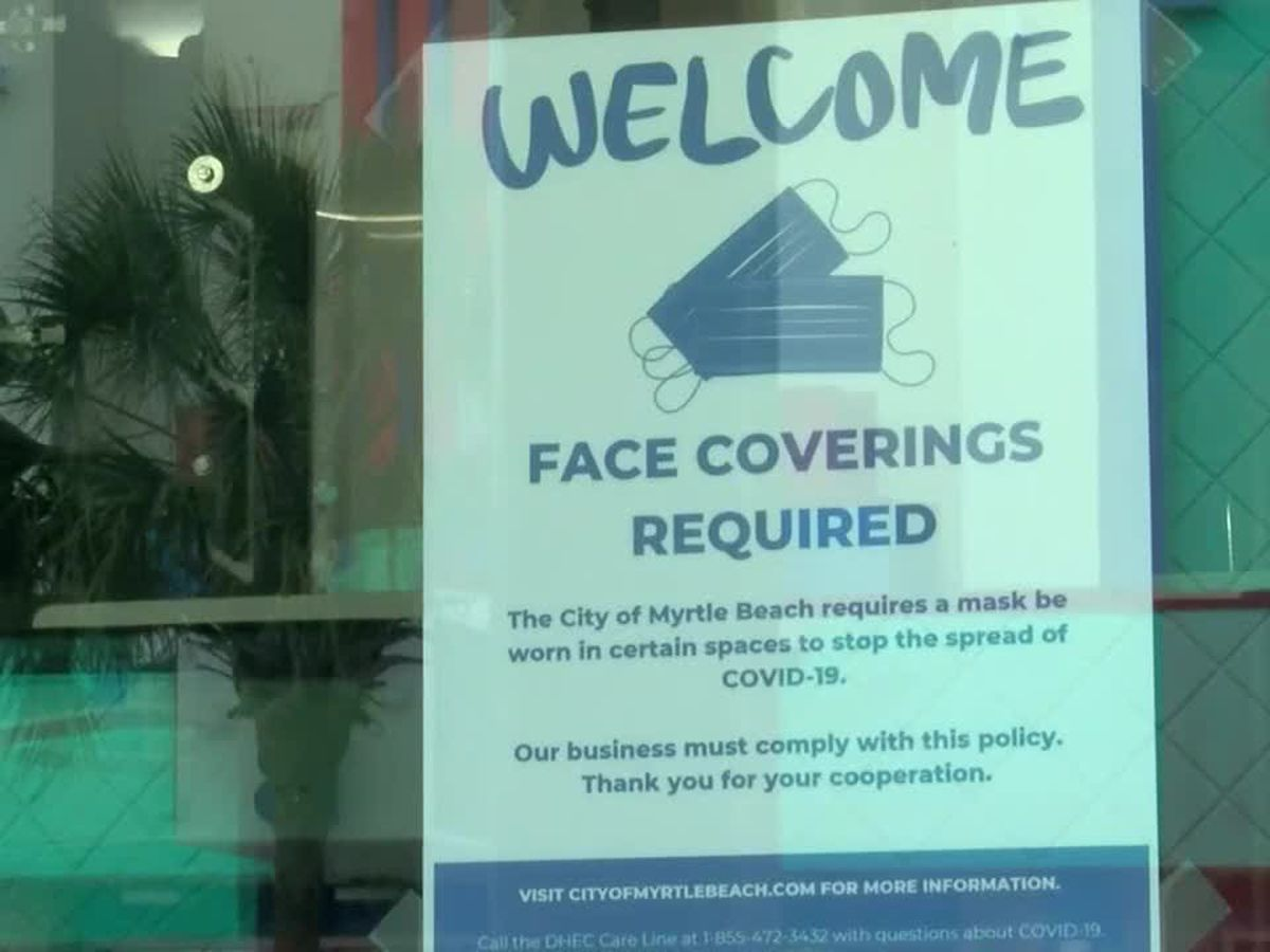 Myrtle Beach's executive order requiring face masks in certain places now in effect