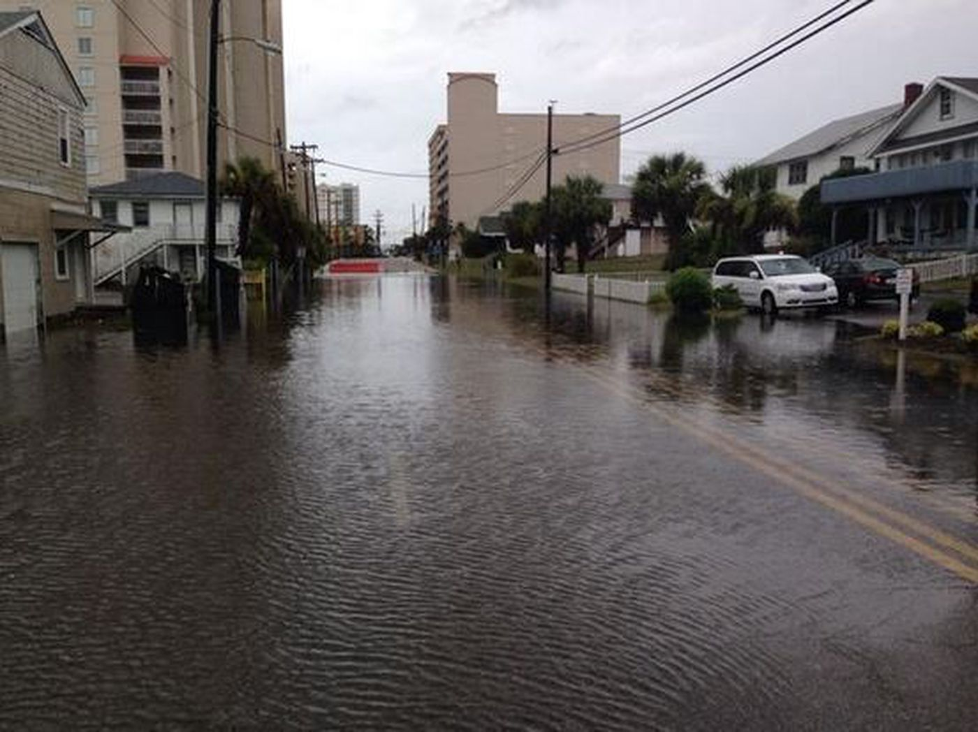 Rain Floods 16th And 17th Avenue In North Myrtle Beach Source Brennan Somers