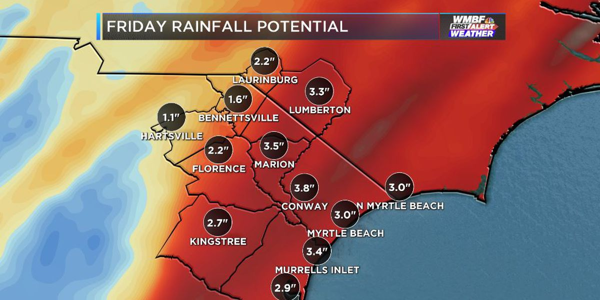 FIRST ALERT: Heavy rain, flood concerns return Friday