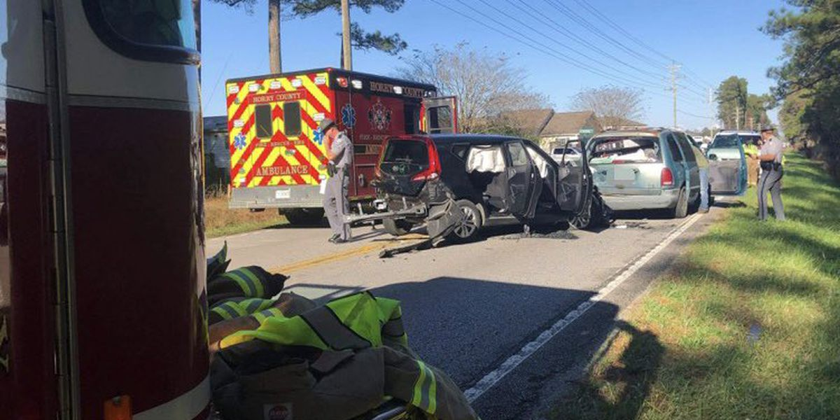 Two injured in multi-vehicle crash in Little River area