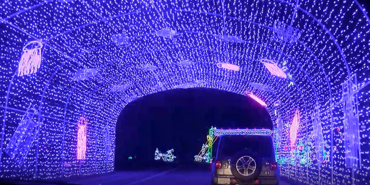 "Two million lights make up 'The Great Christmas Light Show"" in North Myrtle Beach"