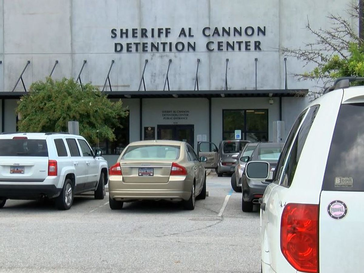 Inmate at Al Cannon Detention Center tests positive for COVID-19