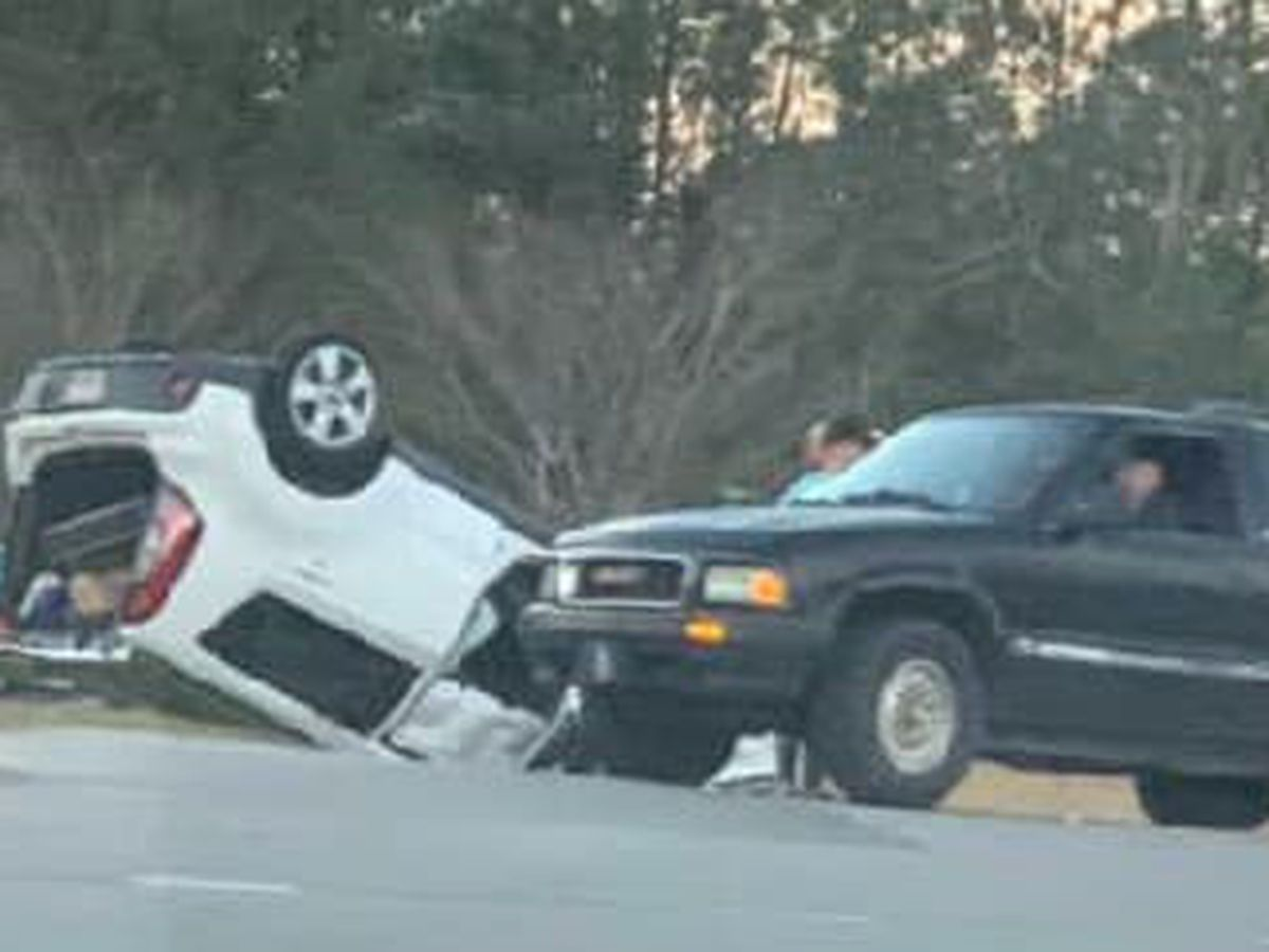 TRAFFIC ALERT: SUV flips in crash on S.C. 544; injuries reported