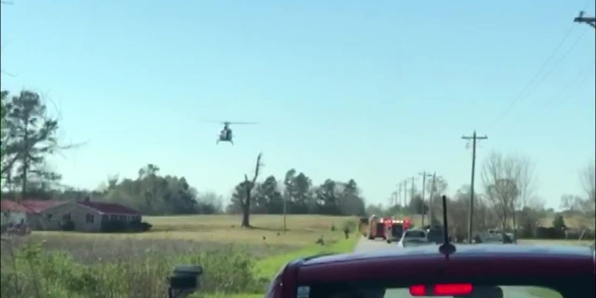 Helicopter responds to scene of crash with injuries in Aynor area