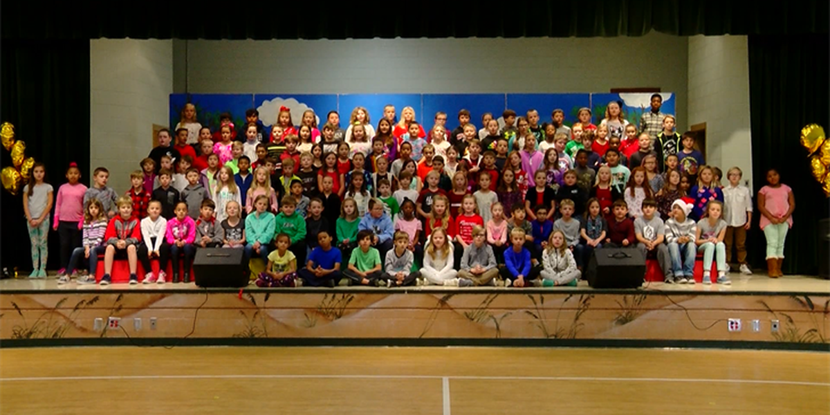 St. James Elementary School performs Christmas music