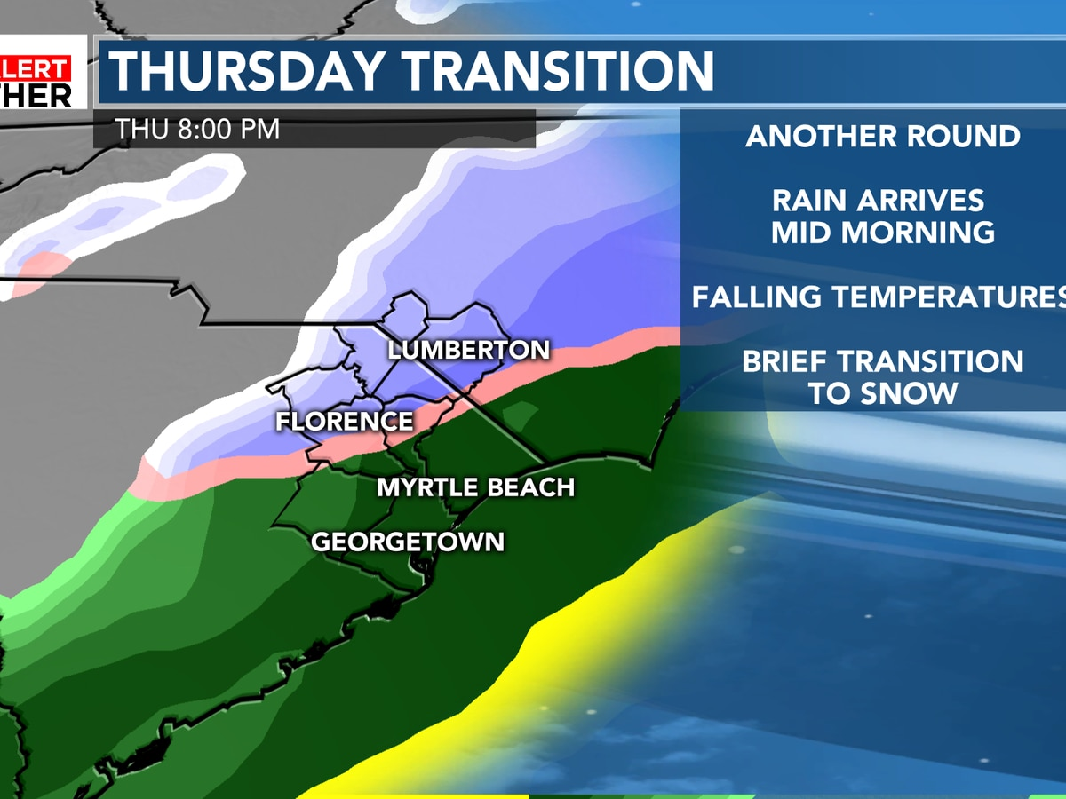 FIRST ALERT: Falling temperatures and rain chances, rain may transition to snow Thursday night
