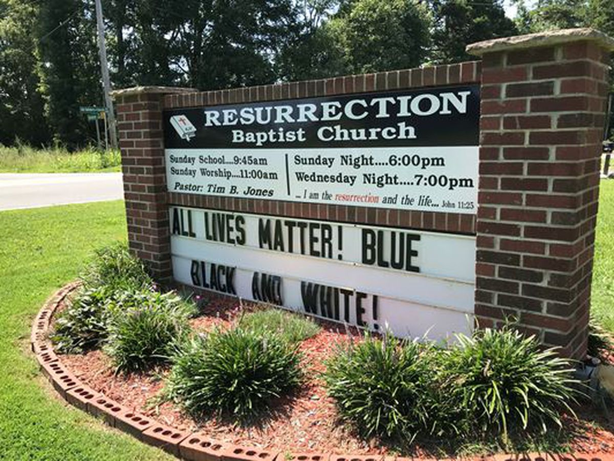 N.C. church shows appreciation for law enforcement, says 'All Lives Matter'