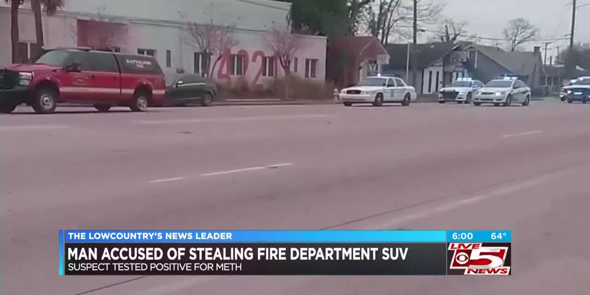 Man charged with stealing Charleston Fire SUV, leading law enforcement on chase