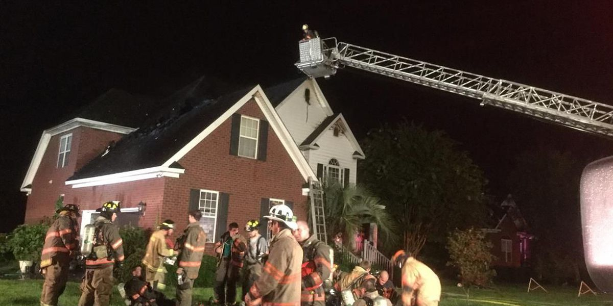 Florence home catches fire after lightning strike
