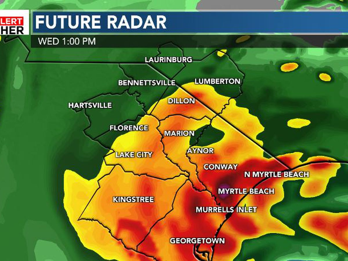 FIRST ALERT: Potential for heavy rain and gusty winds Wednesday
