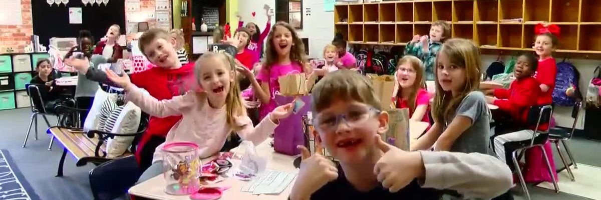 This is Carolina: First graders full of love on Valentine's Day
