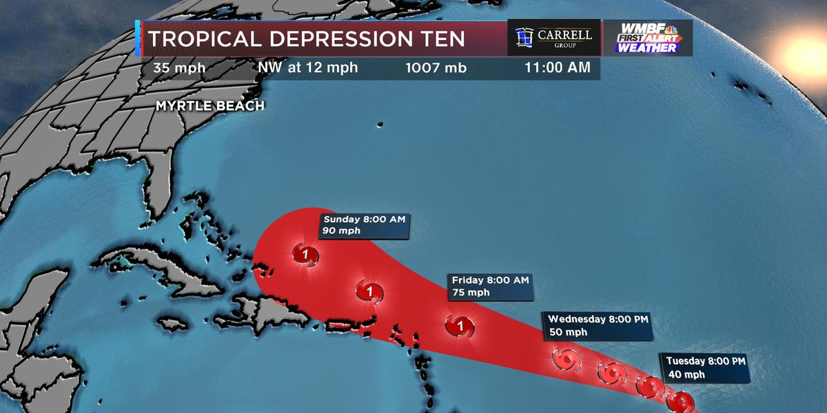 First Alert: Tropical Depression Ten forms, expected to become Imelda later today