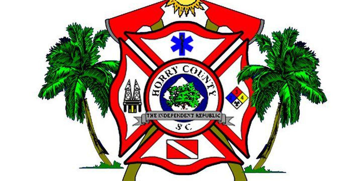 Horry County Fire crews battle fire on Black Creek Road