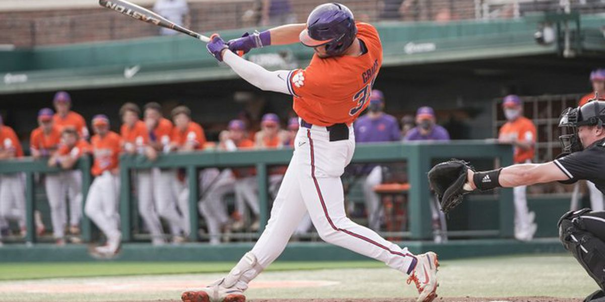 Grice hits three homers in Clemson's 11-3 win over No. 4 Louisville