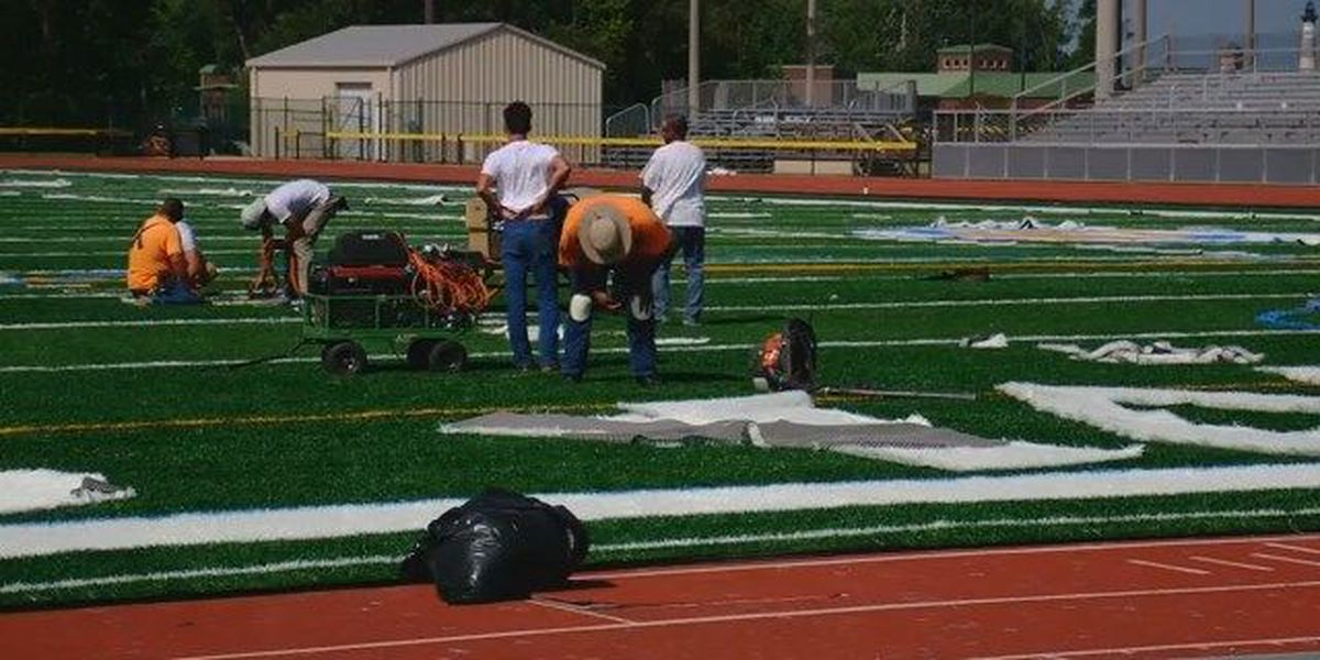 New turf laid down at Doug Shaw Stadium in Myrtle Beach; stadium remains closed for renovations