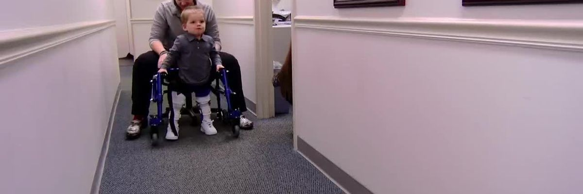 This Is Carolina: 2-year-old with spinal deficiency hopes for service dog