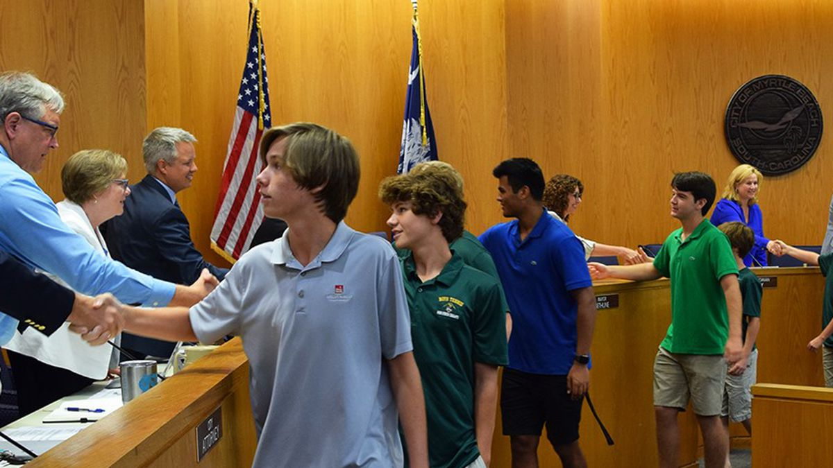 City of Myrtle Beach recognizes Myrtle Beach High School state tennis champs