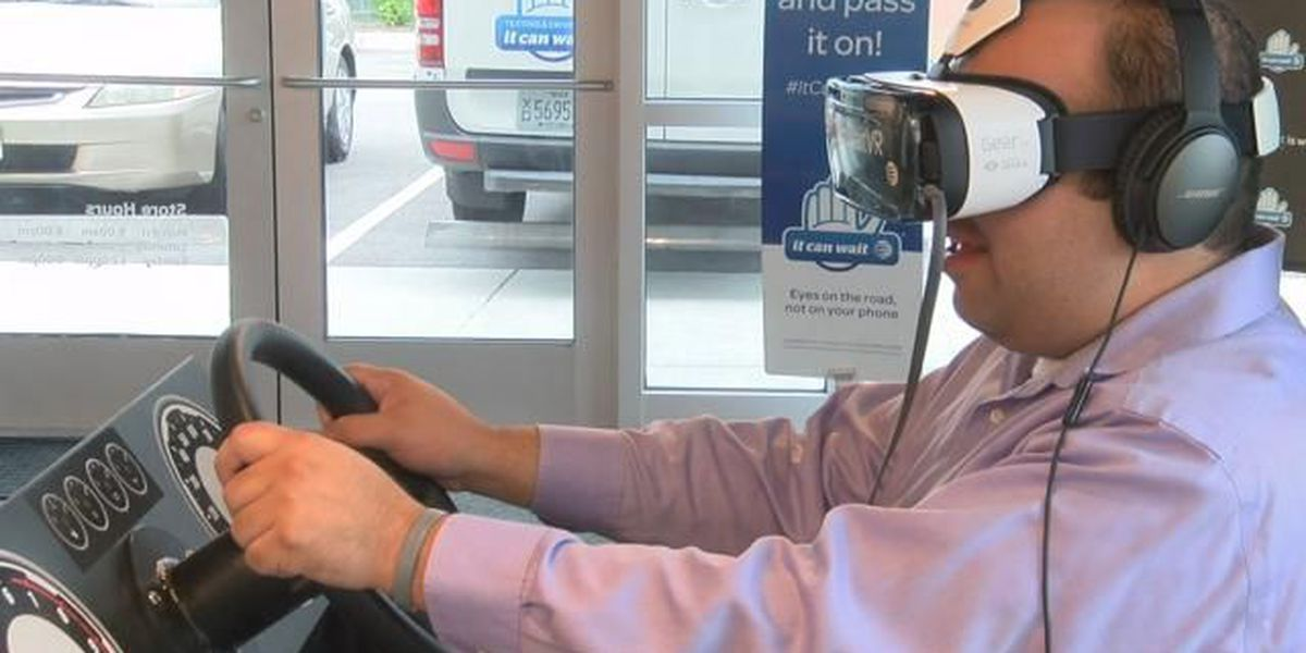 Dangers of texting and driving shown through AT&T's virtual reality driving simulator