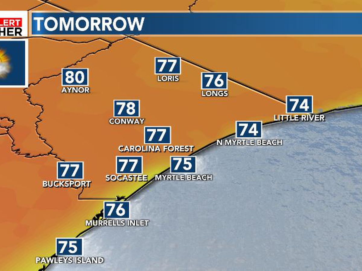 FIRST ALERT: Warm Tuesday ahead of a few mid-week showers