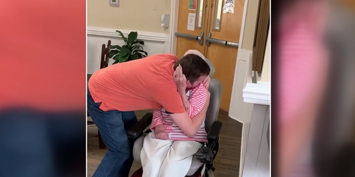Conway siblings hug their mother for the first time inside nursing home