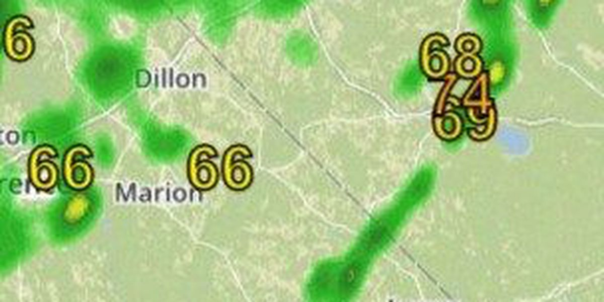 Flooded roads reported in Darlington, Florence, and Marlboro County