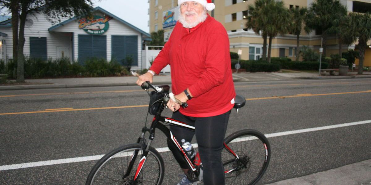 Myrtle Beach's biking Santa always willing to stop for a photo