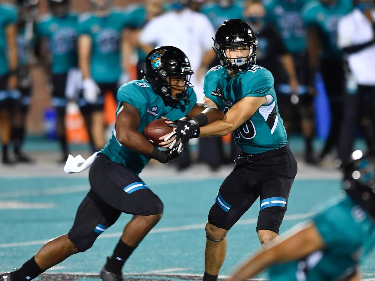 Chanticleers roll past Camels, 43-21, in home opener
