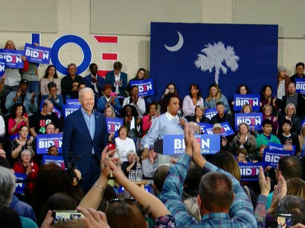Former VP Joe Biden visits CCU before Saturday's South Carolina primary