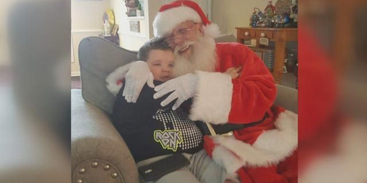Santa brightens holiday for 5-year-old who lost his dad