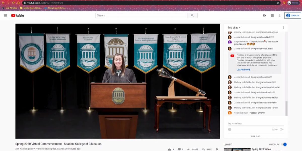 CONGRATS GRADS: CCU honors spring grads during virtual commencement ceremony