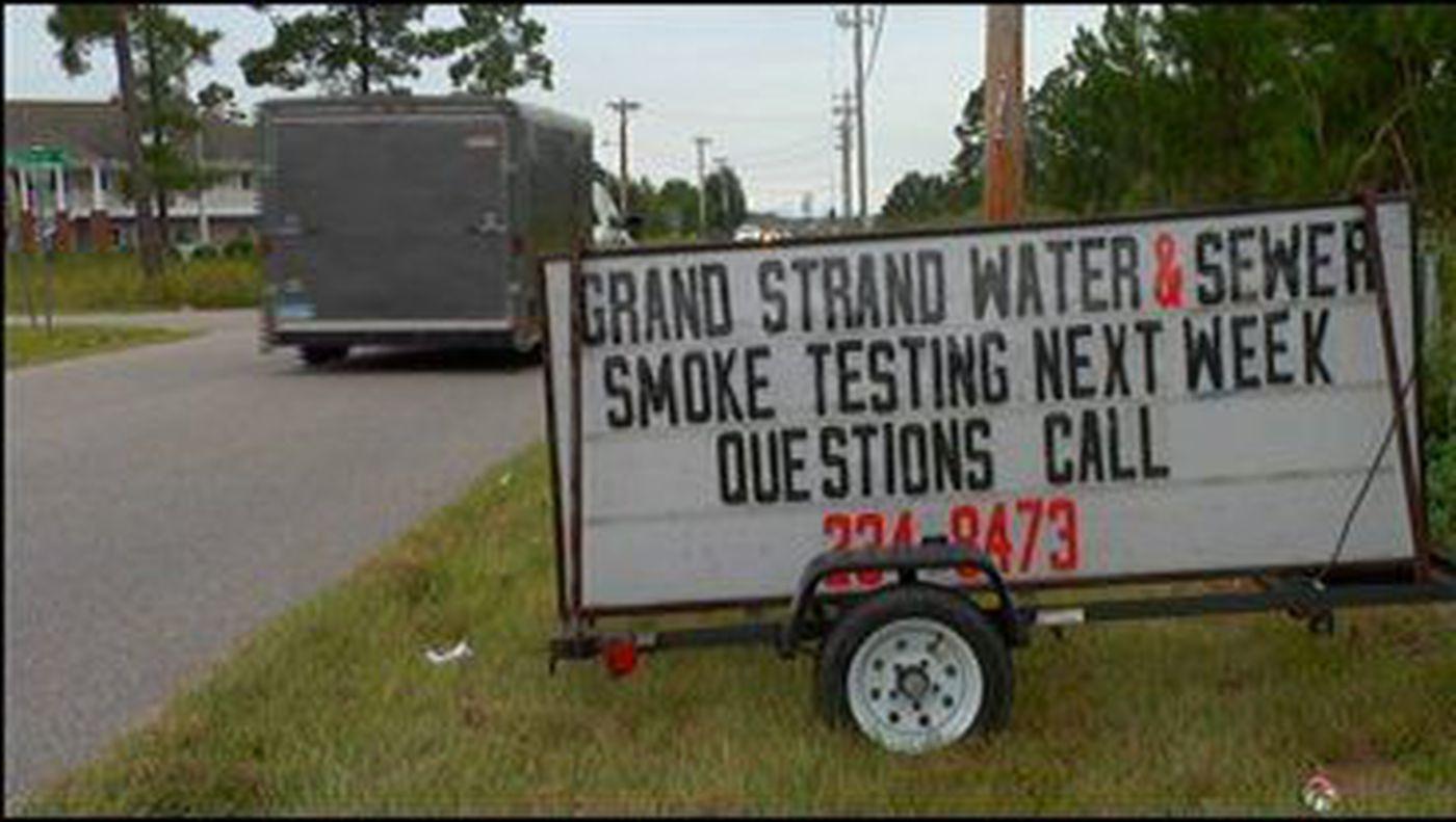 Smoke Tests Keep Sewer Floods At Bay