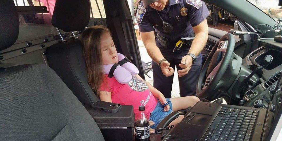 Girl with terminal motor neuron disease inspires Darlington Police during visit