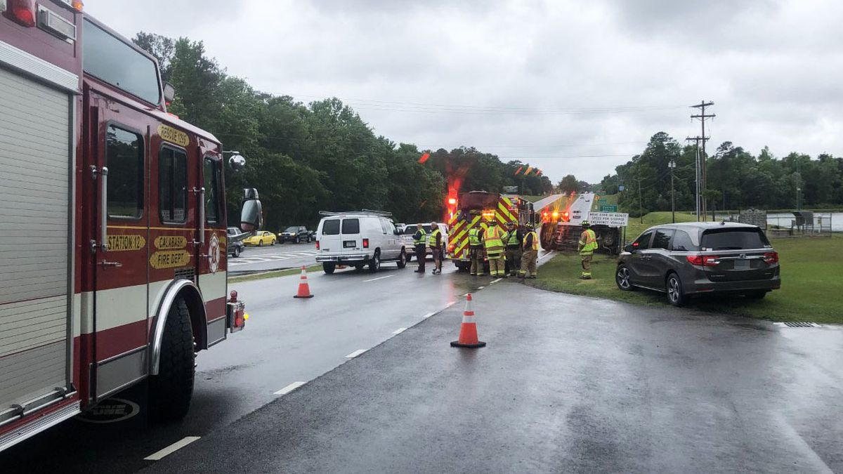 One injured after vehicle overturns in Little River