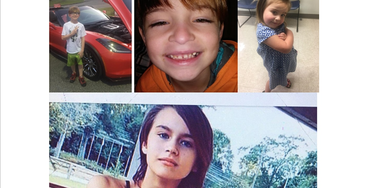 4 La. children kidnapped by parents who lost custody; last seen in Alabama