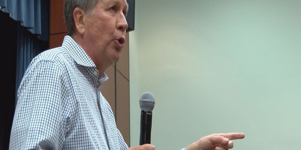 Ohio governor, GOP candidate Kasich campaigns in Florence
