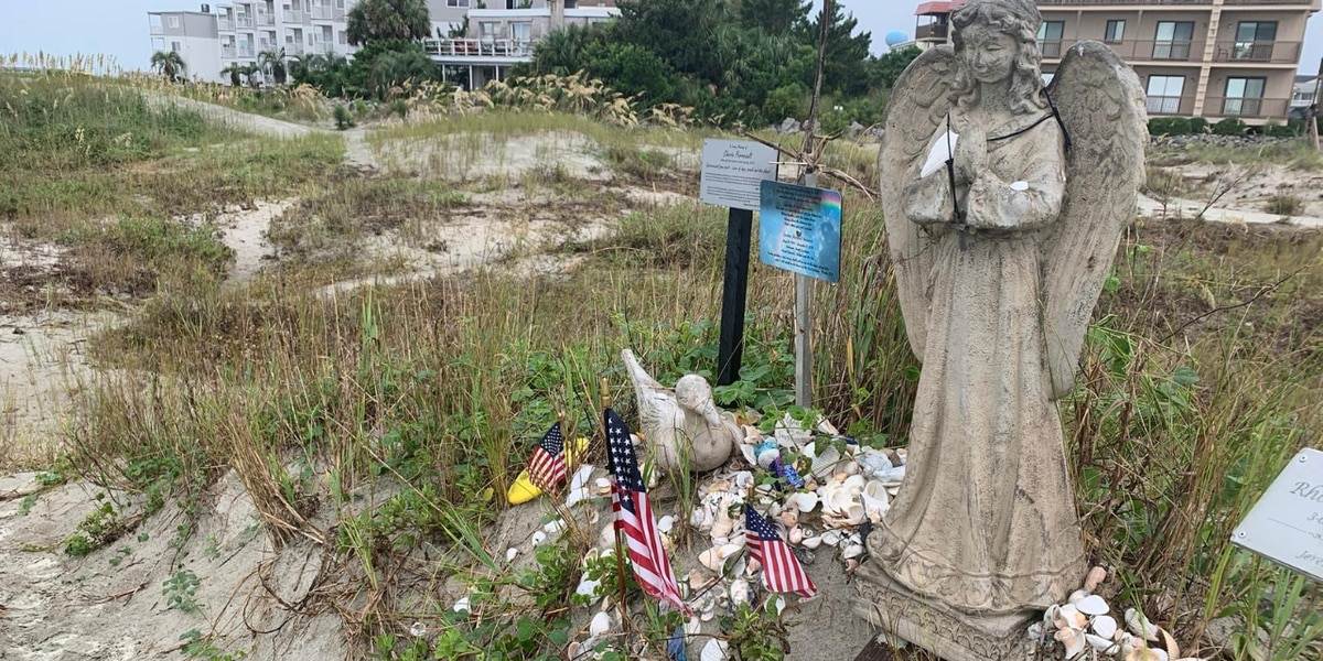 'Angel of Hope' statue remains untouched in S.C. dunes after Hurricane Isaias