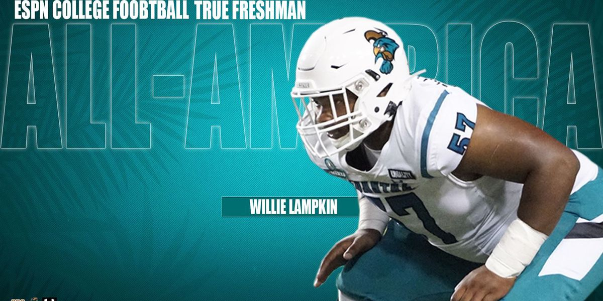 CCU offensive lineman Willie Lampkin named to ESPN College Football's True Freshman All-America Team