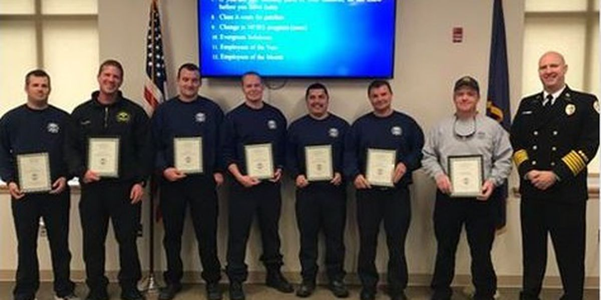 Conway firefighters recognized after freeing child from washing machine, paying for a new one