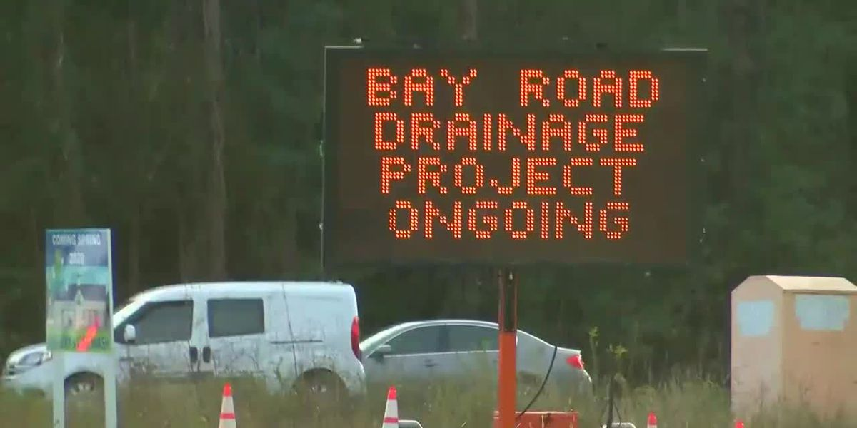 Section of Bay Road closed starting Tuesday for drainage work