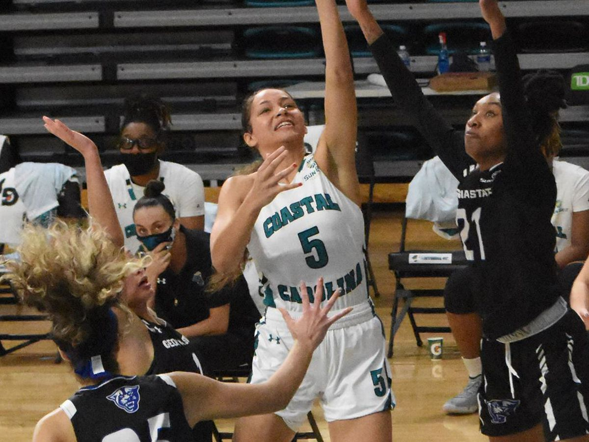 CCU Women's Basketball drops first Sun Belt home contest