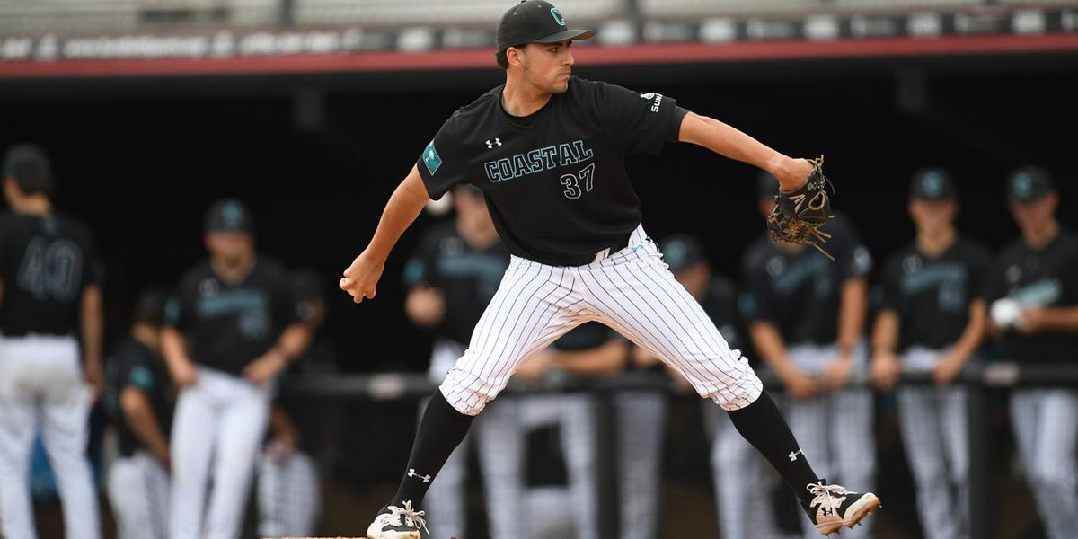 CCU pitchers Parker and Kreuzer combine to shutout Liberty, 2-0