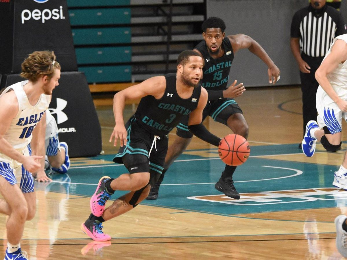 CCU guard DeVante' Jones named to Mid-Season Lou Henson Award watch list
