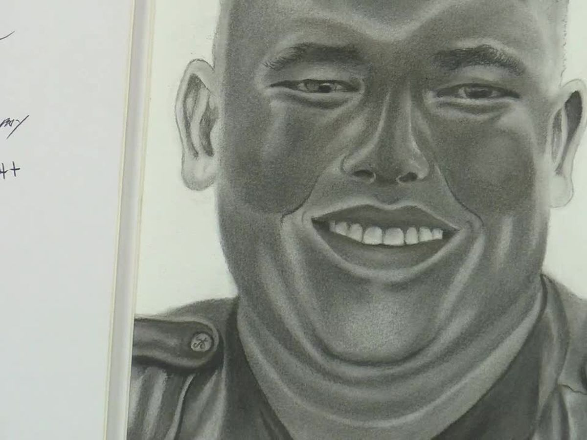 'We're all one big family': City employee sketches portrait of fallen Myrtle Beach officer