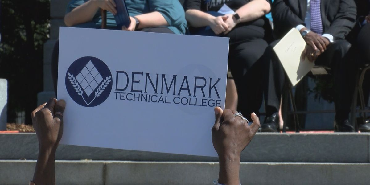 Students, staff, and leaders rally to 'save' Denmark Technical College