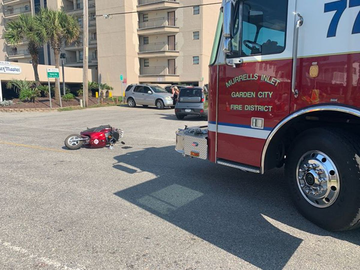 One injured in car vs. moped crash in Murrells Inlet